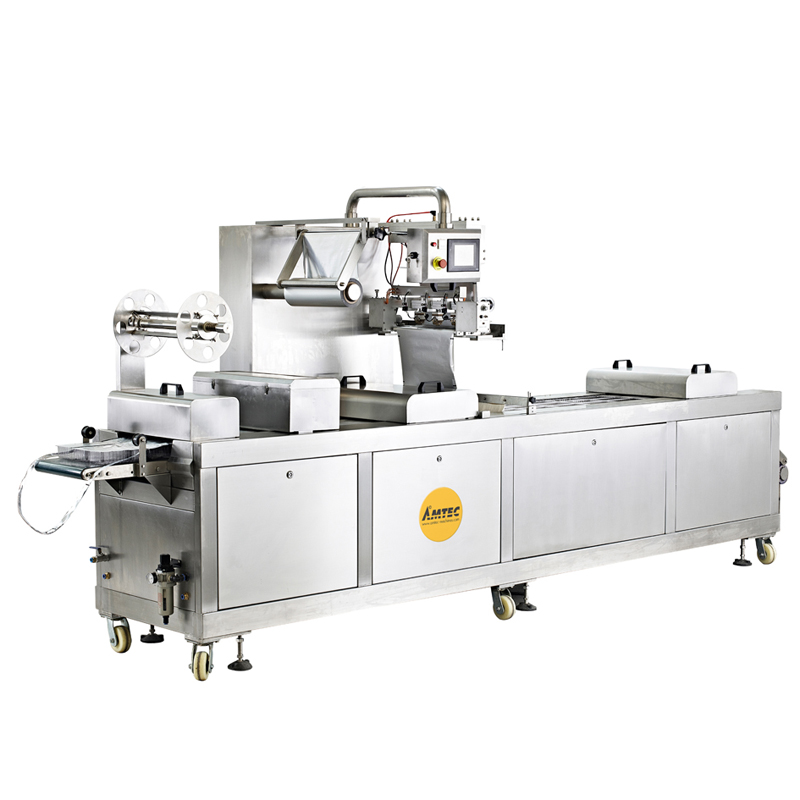 CUP-FORM-AND-FILLINGsystem Aut. Multilane cup/cont. form/filling/film sealing machine FF-18