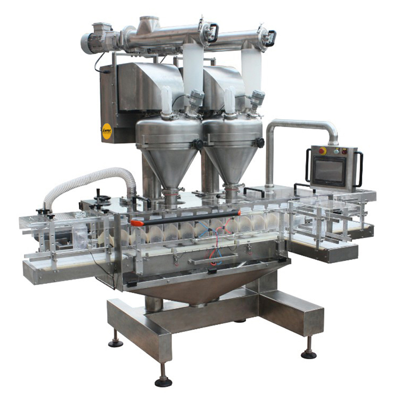 FILLINGmachine Fully Automatic straight transport Double Auger Filler 10-5000g
