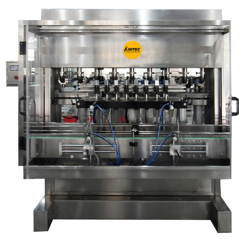 FILLINGmachine Fully Automatic Liquid Filler with 8 Heads