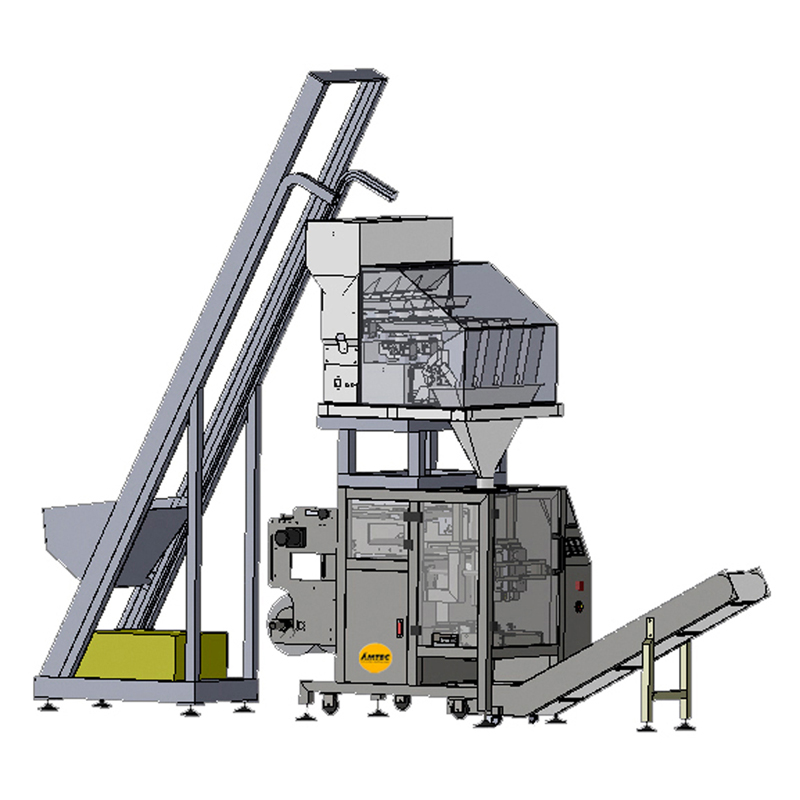 VERTIwrap VIC-Complete-System Vibration-Feeder - Multihead - Packaging (Granule)