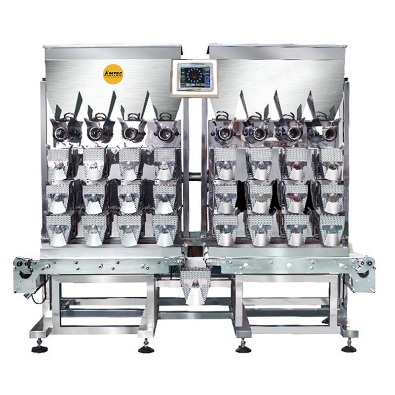 VERTIwrap weigher 8-head-linear weigher for fresh/humid fruits, meat, vegetable 10-2500g IP65