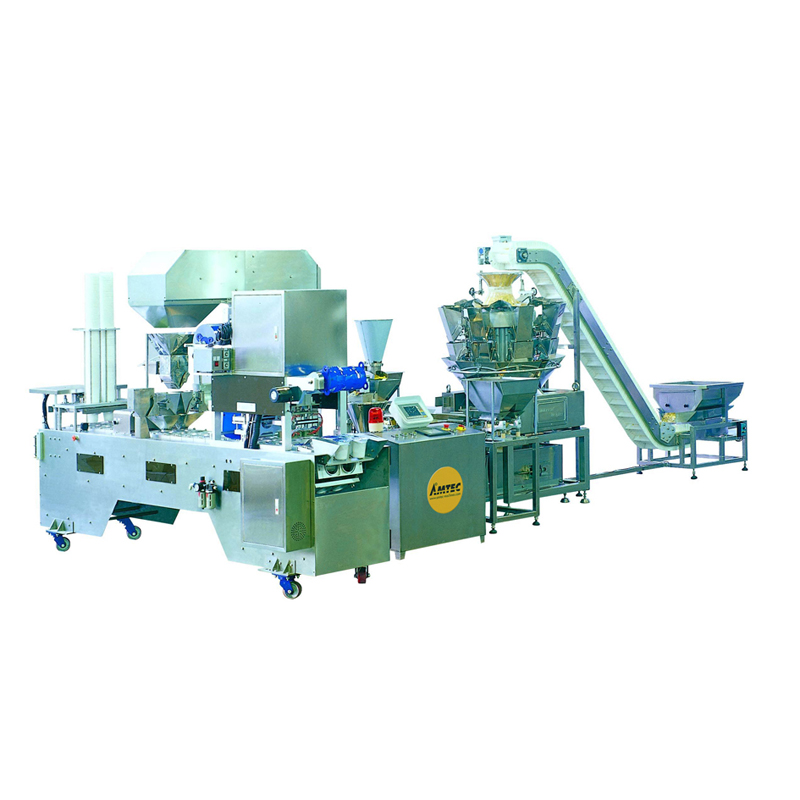 Zoom: CUP-FILLINGsystem Aut. Multilane cup/container filling/film sealing machine ML2-40