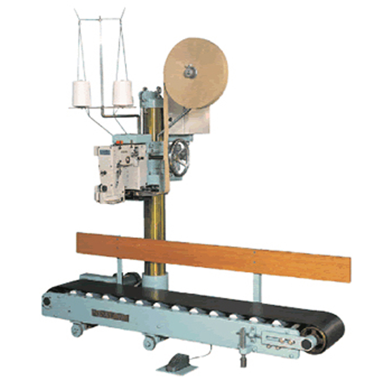 Zoom: FILLINGmachine Sewing Machine with motorized conveyor for large 10-50kg bags