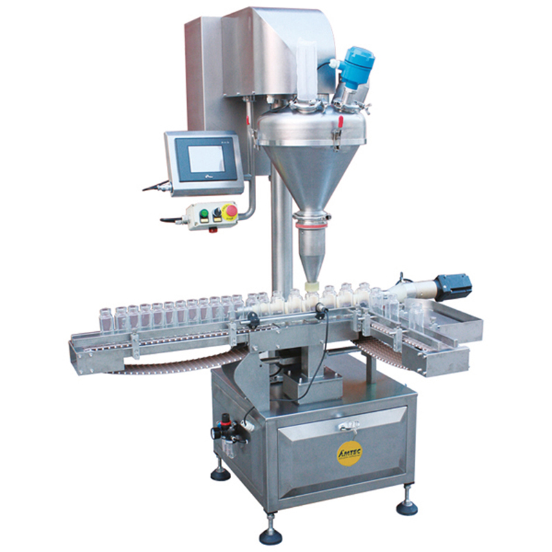Zoom: FILLINGmachine Fully Automatic straight transport single Auger Filler 10-500g