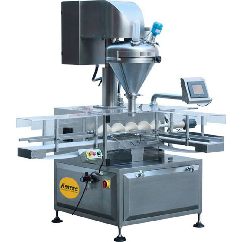 Zoom: FILLINGmachine Fully Automatic straight transport single Auger Filler 10-1500g