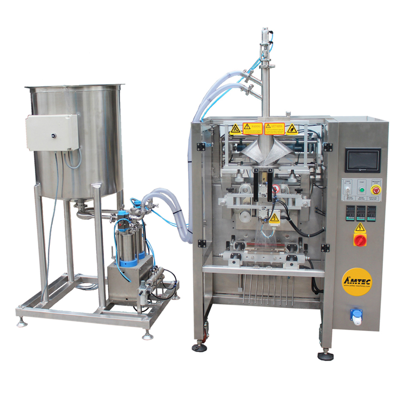 Zoom: VERTIwrap VIC-Complete-System Liquid Dosing Packaging System incl. Tank with Stirrer